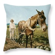 Clay Collins And Old Jake Throw Pillow