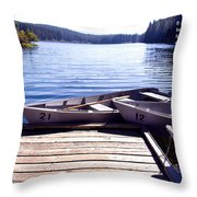 Clear Lake At Mckenzie Pass Throw Pillow