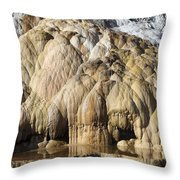 Cleopatra Terrace, Mammoth Hot Springs Throw Pillow