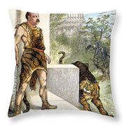 Cleveland Cartoon, 1884 Throw Pillow