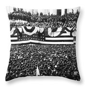 Clevelands Inauguration Throw Pillow