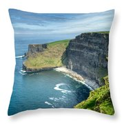 Cliff Of Moher 31 Throw Pillow