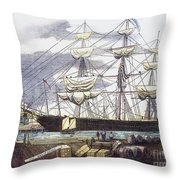 Clipper Ship, 1851 Throw Pillow
