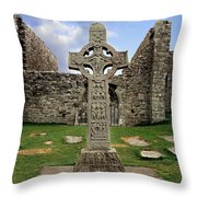 Clonmacnoise, Co. Offaly, Ireland Throw Pillow
