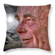 Close-up Profile Robert John K. Throw Pillow