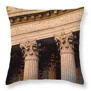 Closeup Of The U.s. Supreme Court Throw Pillow