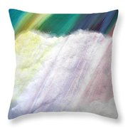 Cloud Within Rainbow Throw Pillow