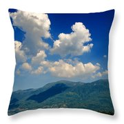 Clouds And Mountain Throw Pillow
