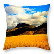 Clouds In The Mountains Throw Pillow