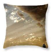 Clouds Of A Storm Throw Pillow