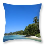 Coast Of Indian Ocean Throw Pillow