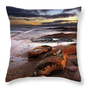 Coastline At Twilight Throw Pillow