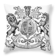 Coat Of Arms: Great Britain Throw Pillow