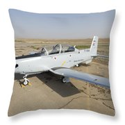 Cob Speicher, Tikrit, Iraq - A T-6 Throw Pillow