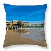 Cocoa Beach Pier Florida Throw Pillow
