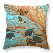 Collare Butterflyfish Throw Pillow