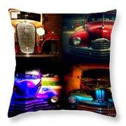 Collector Cars Throw Pillow