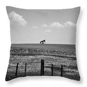 Colorado Crude - Bw Throw Pillow