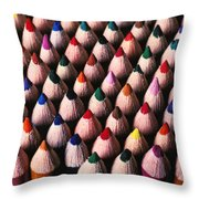 Colored Pencils Throw Pillow