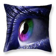 Colorful Eye Throw Pillow