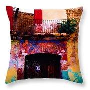 Colors Of Oaxaca Throw Pillow