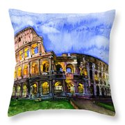 Colosseum Throw Pillow