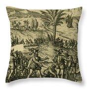 Columbus Arrested Throw Pillow