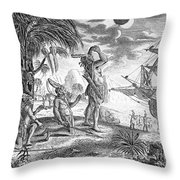 Columbus: Jamaica, 1504 Throw Pillow