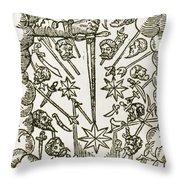 Comet, 1665 Throw Pillow