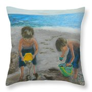 Cool Water Warm Sand Throw Pillow