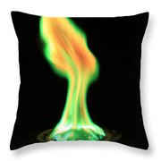 Copperii Chloride Flame Test Throw Pillow