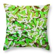 Coral Texture Throw Pillow