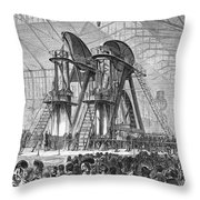 Corliss Steam Engine, 1876 Throw Pillow