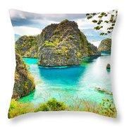 Coron Lagoon Throw Pillow
