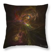 Cosmic Image Of A Colorful Nebula Throw Pillow