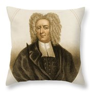 Cotton Mather, American Minister Throw Pillow