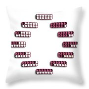 Counting Eggs Throw Pillow