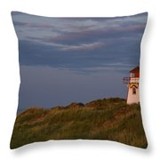 Covehead Lighthouse, Prince Edward Throw Pillow