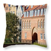 Cow Gate In Gdansk Throw Pillow