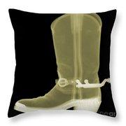 Cowboy Boot X-ray Throw Pillow