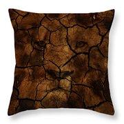 Cracks Of A King Throw Pillow