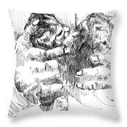 Cradling Kittens Throw Pillow