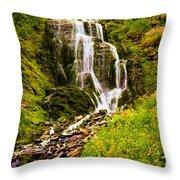 Crater Lake Falls Throw Pillow