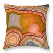 Cross-section Of Mexican Agate Throw Pillow
