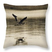 Crossing The Lake Throw Pillow