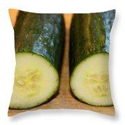 Cucumbers Throw Pillow