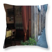 Curtains Billow In The Gentle Tuscan Throw Pillow
