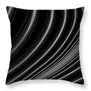 Curve Art Throw Pillow