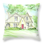 Custom House Rendering Sample Throw Pillow