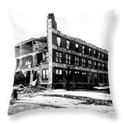 Cyclone Damage, 1896 Throw Pillow